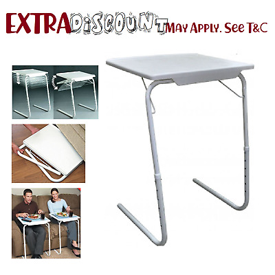 Foldable Table Laptop Adjustable Tray Bed Portable Desk Mate Tv Dinner Table