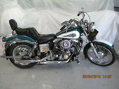 Harley   Davidson 1981      Lowrider Shovel     Motor  Bike  .  And   Trailer