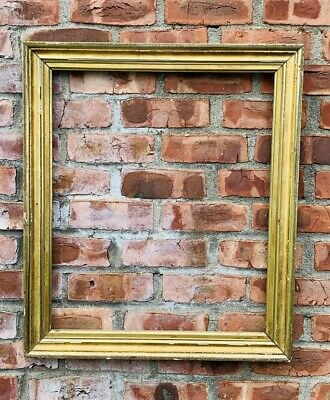 """19th Century American Lemon Gilded Picture Frame For 24"""" X 20"""" Picture Or Mirror"""