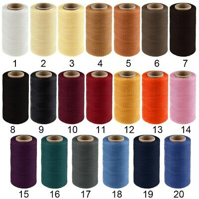 260m 1mm Waxed Thread Cord Flat Sewing Coarse Braid For Leather Shoe Repair 150D