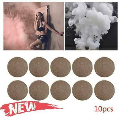 10Pcs Smoke Cake White Bomb Effect Show For Pography-Stage Aid-Toy ps P5C5