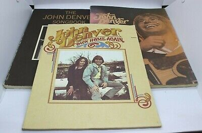 John Denver Sheet Music An Evening With / Back Home Again / The Song Book LOT
