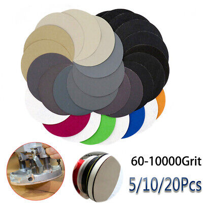5'' 125mm Sandpaper Pads Sanding Disc 60-10000 Grit With Loop Wet or Dry NEW