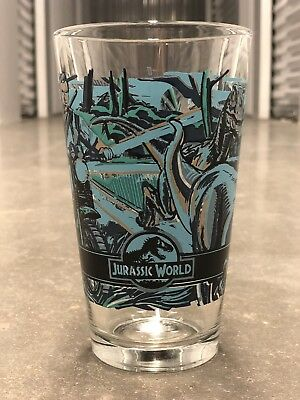 Alamo Drafthouse JURASSIC WORLD Pint Glass MONDO Rare Limited Edition