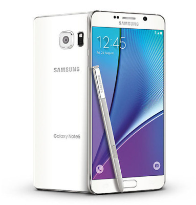 """Samsung 5.7"""" Galaxy Note 5 SM-N920T T-Mobile 32GB Unlocked 16MP Smartphone White"""
