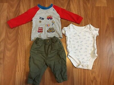 Baby Boy Complete Cute Outfit Tu/ Mini Club Age 0-3 Months
