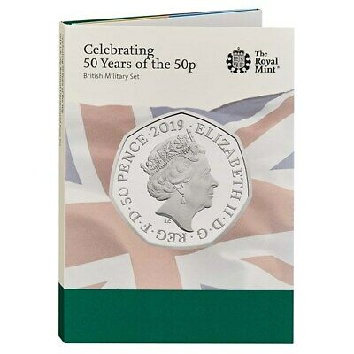 2019 Royal Mint - Fifty Years Of 50P Bunc Coin Set - British Military Coin Hunt