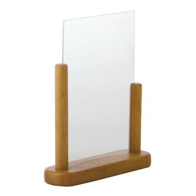 Securit Acrylic Menu Holder With Wooden Frame A5 [CE408]
