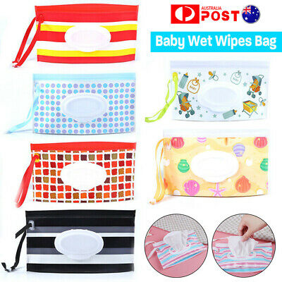 Reusable Clean Carrying Case Wet Wipes Bag Home Trendy Pouch Wipe Container Baby