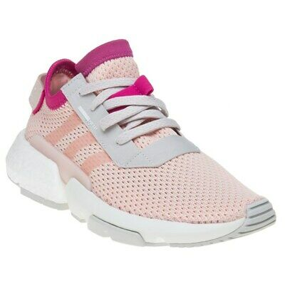 New Girls adidas Pink Pod-S3.1 Textile Trainers Retro Lace Up