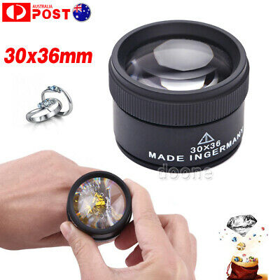 30x36mm Optical Magnifier Magnifying Glass Lens Loupe Microscope Watch Jewelry