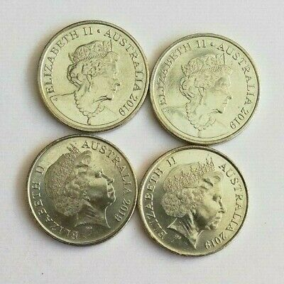 4 x 2019 5 Cent Coins - Two Different Effigy on the Obverse - From Mint Bag