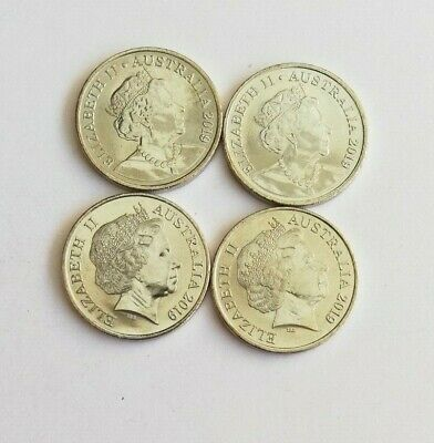 4 X 2019 10 Cent Coins - Two Different Effigy on the Obverse - From Mint Bag