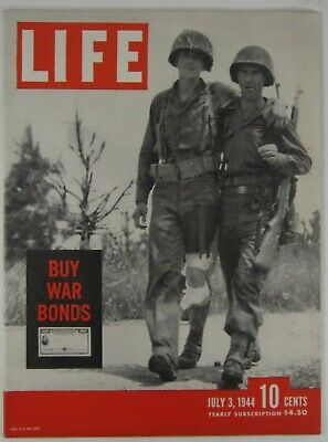 WWII D-Day Normandy Cherbourg Buy War Bonds Coke Ad LIFE Magazine July 3 1944
