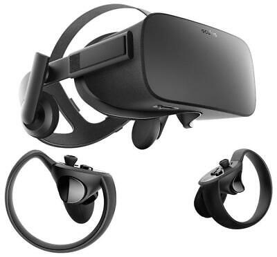 Oculus Rift VR Virtual Reality Headset Touch Controllers Bundle