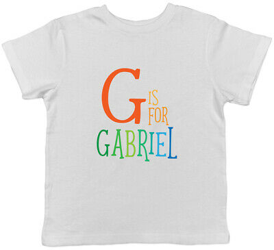 Personalised Any Name Initial Kids Childrens T-Shirt