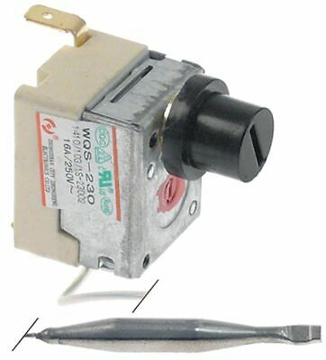 Safety Thermostat Switch-Off Temp. 230°C 2-Pole 1Nc 16A Probe D 5Mm Probe L 48Mm