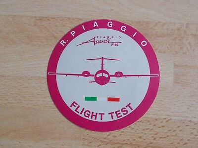 Autocollant / sticker PIAGGIO P180 AVANTI FLIGHT TEST