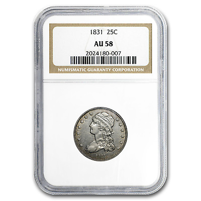 1831 Capped Bust Quarter AU-58 NGC (Small Letters) - SKU#193404