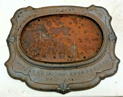 1870 Boston & Maine Foundry Co. Wood Stove Base Cast Iron B & M RR Rare Antique
