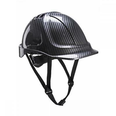 Portwest PC55 Carbon Fibre Effect Endurance Vented ABS Workwear Hard Hat Helmet