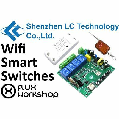 LC Technology Smart Switch IOT 2200W 10A 1 4Ch LCWSS Home Wifi Flux Workshop
