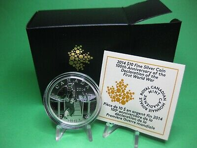 2014 $10 Fine Silver Coin - 100th Anniversary of the Declaration of the First Wo