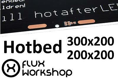Aluminium PCB Heatbed 300x200 200x200 MK2A Hot Reprap 3D Printing Flux Workshop