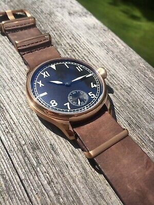 California Dial Rose Gold Plated 44mm Hand-Wind Homage Pilot Flieger Watch