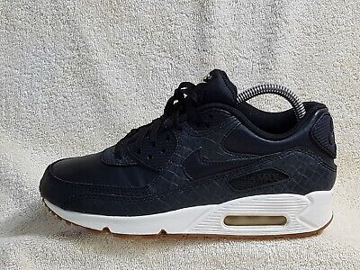 competitive price 809c6 b943c Nike Air Max 90 Premium Ladies or Young trainers Leather Black UK5 EU38.5,