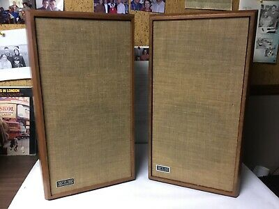 Vintage Klh Model 33 Pair Of Speakers - Tested And Work Great