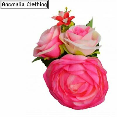 Country Garden Peony Hair Clip in Pink