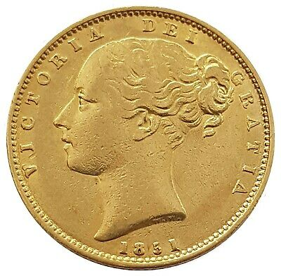 1851 Queen Victoria Shield Reverse Sovereign + Capsulated within Luxury Case