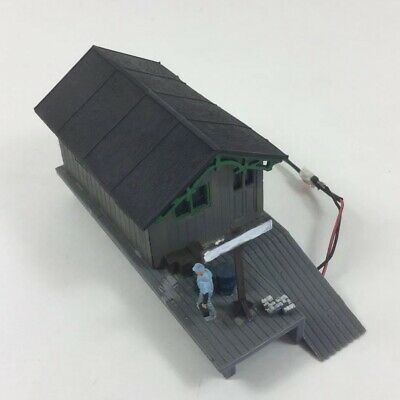 HO Scale Pikesville Junction Building Shed Built Weathered Detailed Wired