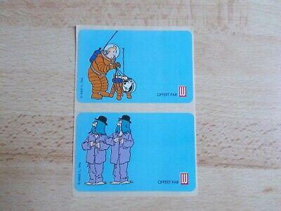 2 Stickers/Decals Tintin and Dupont and Dupond / Lu 1994