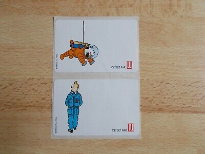 2 Stickers/Decals Tintin and Milou / Lu 1994