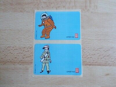 2 Stickers/Decals Tintin - Haddock & Sunflower / Lu 1994