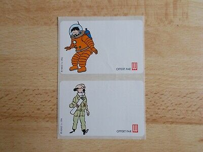 2 Stickers/Decals Tintin - Haddock & Sunflower/Lu