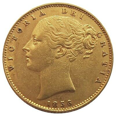 1856 Queen Victoria Shield Reverse Sovereign + Capsulated within Luxury Case