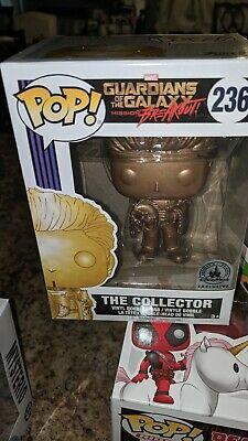 Funko Pop! The Collector Gold GOTG #236 Disney Parks Exclusive BOX