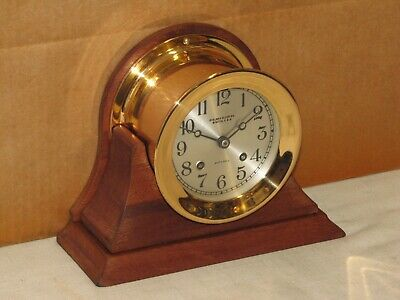 Chelsea Antique Ships Bell Clock~4 1/2 In Dial~1926~Red Brass~Restored