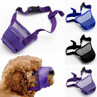 Dog Safety Muzzle Muzzel Adjustable Biting Barking Chewing Small Medium Large