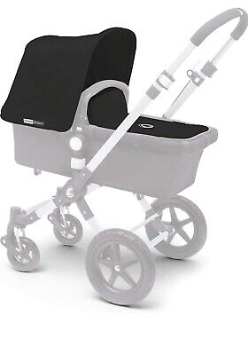 Bugaboo Cameleon - 2 Piece Tailored Fabric Canopy & Apron Set Black Canvas NEW!!