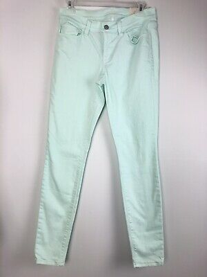 Loft Womens Pants Super Skinny Seafoam Green  Ann Taylor Pants Size 27 New