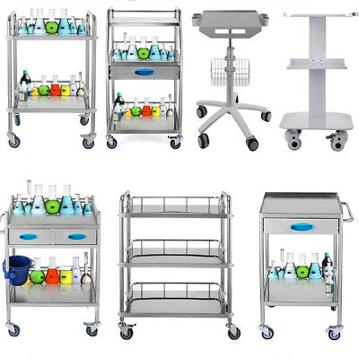 Medical Trolley Cart Medical Dental Lab Serving Carts Trolley Big Drawer