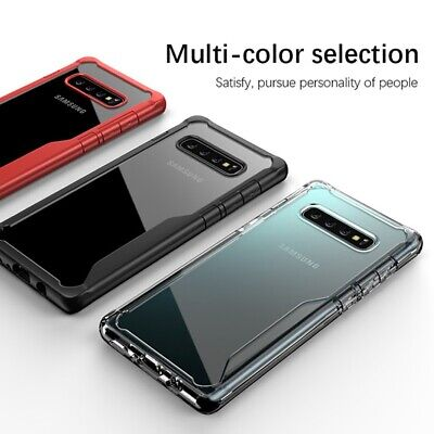 Slim Clear TPU Acrylic PC Hard back Cover Case For Samsung S10e / S10 / S10 PLUS