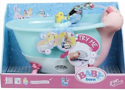 Baby Born Bath Tub & Shower Lights & Sounds With Rubber Ducky Wash Time