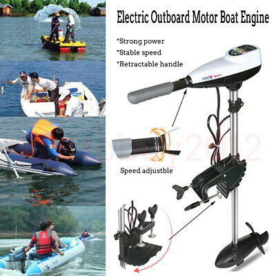 1100W - 2500W Boat Engine Propeller Electric Outboard Heavy Duty Trolling Motor