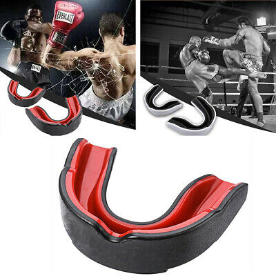 NEW Professional Gel Boxing Gum Shield & Mouth Guard MMA Rugby Mouthpiece Teeth