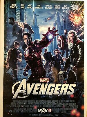 """THE AVENGERS Original Movie Poster 27"""" X 40"""" DS/Rolled - 2012 - MARVEL"""